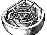Modèle du système solaire de Kepler avec les solides de Platon. Issu du Mysterium Cosmographicum (1596) Merci à Nathalie Novain