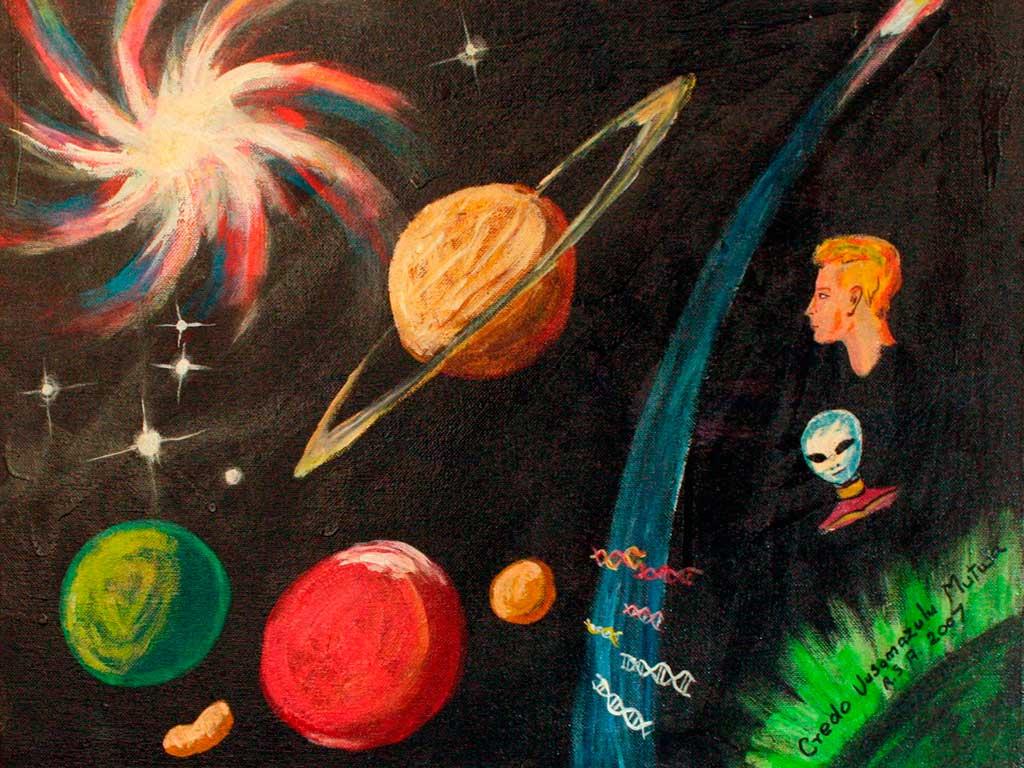 cosmo come dipinto da Credo Mutwa