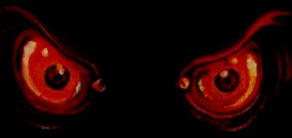 paranormal yeux rouges